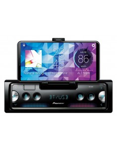 Pioneer SPH-10BT radio with mobile phone holder and mobile phone control