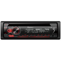 Pioneer DEH-S310BT 1-DIN radio with CD drive, remote app via USB and Bluetooth