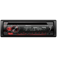 Pioneer DEH-S410BT 1-DIN radio with CD drive, Bluetooth, USB, Remote App