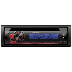 Pioneer DEH-S110UBB 1-DIN radio with front USB, CD drive and remote app