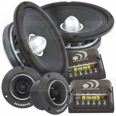 "Massive Audio PK6S - 6.5"" 2-Way 250 Watts RMS Component Kit Pro Audio Speakers"