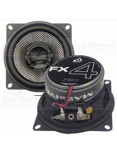 "Massive Audio FX4 - 4"" 2-Way 50 Watts RMS Coaxial Speakers"