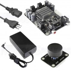 AMB2050NR KIT2 - Class D 2x50W Bluetooth amplifier with power supply and volume control