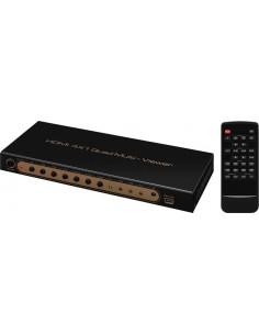 Monacor HDMQS-1044K HDMI™ quad splitter