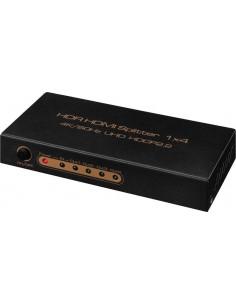 Monacor HDMS-1044K HDMI™ quad splitter