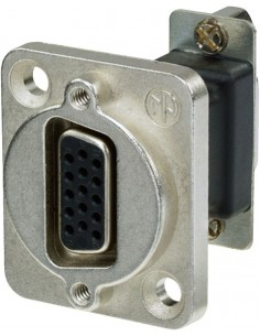 Monacor NADB-15FF 15-pole panel jack