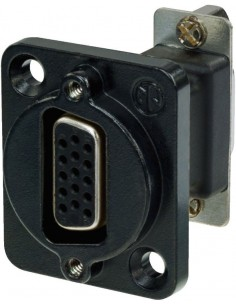 Monacor NADB-15FFB 15-pole panel jack