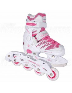 Tempish Clips Duo Adjustable Kids Inline Skates White
