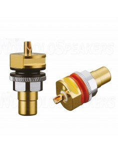 Viborg Audio RC101G panel RCA Pure copper GOLD 32.5mm (Pair)