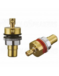 Viborg RC102G RCA panel 36.5mm GOLD - Screw tightening (PAIR)