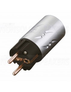 VE502 - Schuko Viborg 16A / 250V connector Aluminum Pure copper
