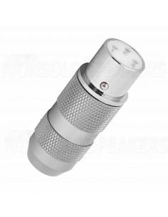 XF202R - XLR socket - Pure copper - Viborg Audio - Rhodium plated