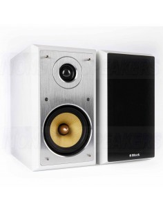 Block Audio S-50 white compact speakers