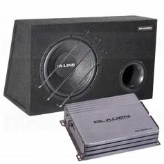 Gladen sub pack 1 M10VB + rc600c1 mono amplifier