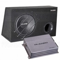 Gladen sub pack 2 M12VB + rc600c1 mono amplifier