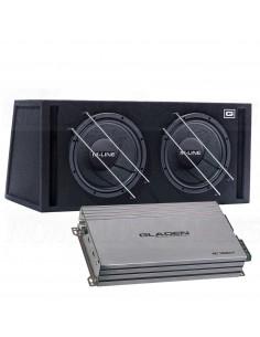 Gladen sub pack 3 M12VB dual + rc1200c1 mono amplifier