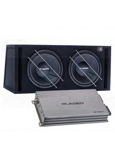 Gladen sub pack 4 RS12VB dual + rc1200c1 mono amplifier
