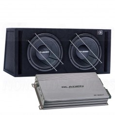 Gladen sub pack 4 RS12VB dual + rc1200c1 mono amplifier