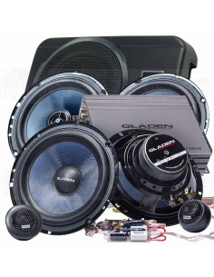 Gladen alpha 165 pack 1 plus sub kit + coaxial + amp + sub