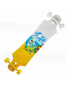 drop through complete longboard white