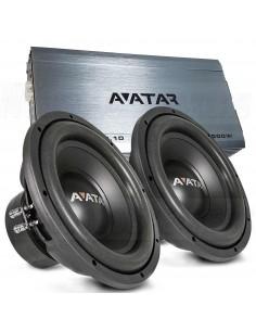 Avatar bass packet 1000W ampli + subwoofers