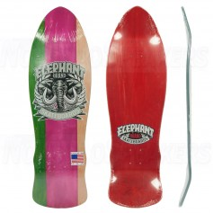 """Elephant Street Axe 9.5"""" Tri Color Green/Pink/Natural Deck"""