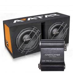 "Avatar Storm Box ATOM Dual 12"" subwoofer + amp"