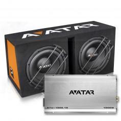 "Avatar StormBox ATU-1500W Dual 12"" subwoofer + amp"