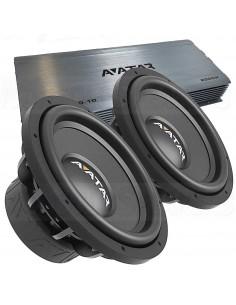 """AVATAR 2x12"""" basspaket 2000w + amplifier"""