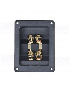 VS06 Rectangular plate bi-wiring screw terminals Gold - 96x123mm
