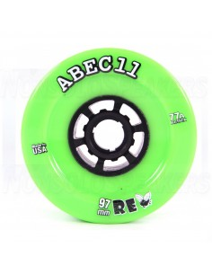 Abec11 ReFly 97mm 77A Lime wheels