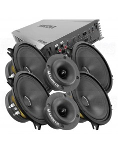 "DEAF BONCE Hannibal 4x50 kit 5"" MW +AMP +TW"