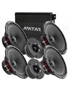 """AVATAR 4x6,5"""" kit + ABR-200.2 AMP"""