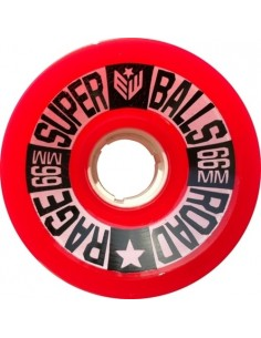 Earthwing Superball Road Rage 66mm Wheels - Red
