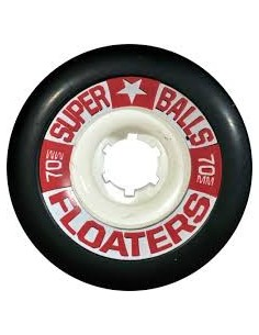 Earthwing Superball Floaters 70mm Wheels - Black
