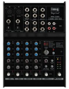MONACOR MMX-22UFX 4-Kanal-Audio-Mixer