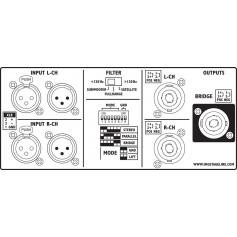 MONACOR STA-3000 3HE PA-AMPLIFIER 2x1000W