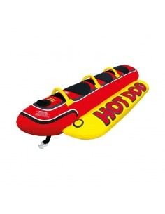 Airhead Towable Hot Dog 3 Persons red/yellow