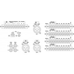 MONACOR PA 12040 4-zone mixing AMP 4x120W