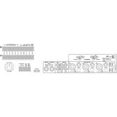 MONACOR PA-6480 6 ZONE AMPLIFIER 480W
