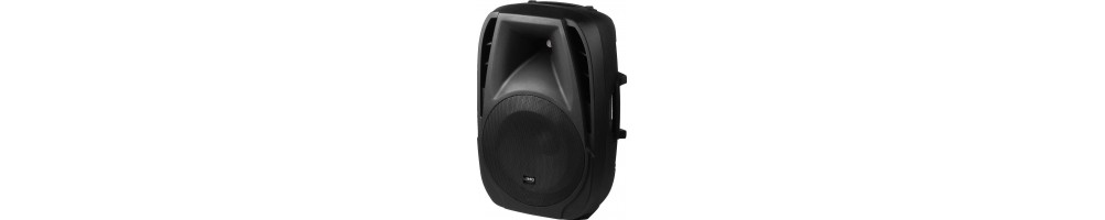 Active PA speaker with playback