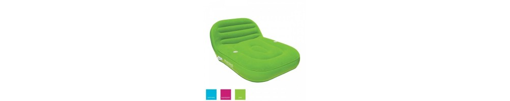 Airhead Inflatable Double Chaise Lounge 2 people raspberry rose